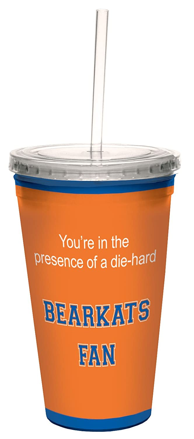 Tree-Free Greetings cc34868 Bearkats College Basketball Artful Traveler Double-Walled Cool Cup with Reusable Straw 16-Ounce