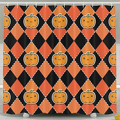 Silinana Halloween Pattern with Pumpkins 6072 Inch Bathroom