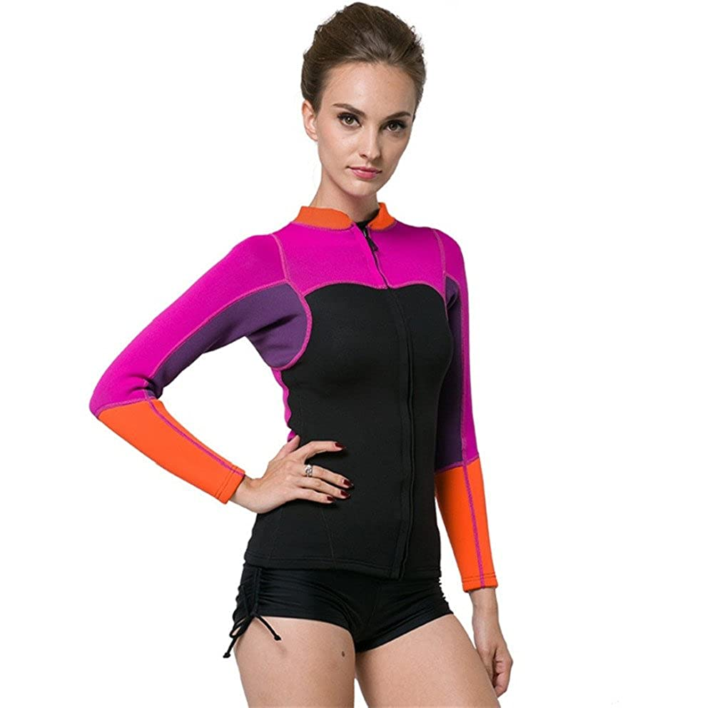 0f23678c983 Amazon.com: XDXART Women's Warm Wetsuit Snorkeling Suit Diving Jacket  Jacket Surf Winter Winter Swimwear (S): Clothing