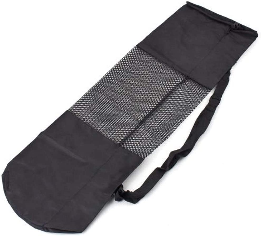 Vektenxi //Yogamatte Tasche Schwarz Yogamatte Tragetasche Nylon Mesh Verstellbarer Gurt Waschbare Tasche Kosteng/ünstig und von guter Qualit/ät