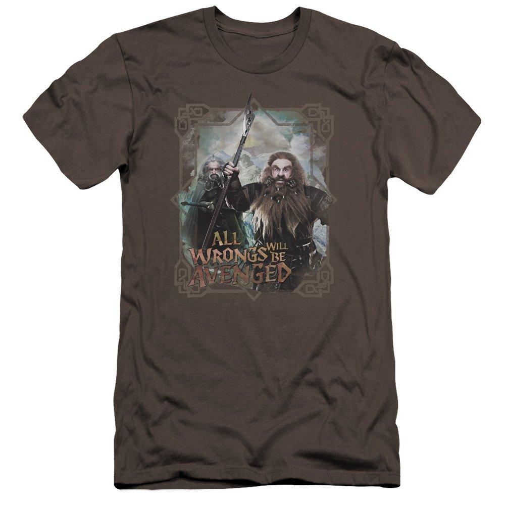 The Hobbit Wrongs Avenged Premium Adult Slim Fit T-Shirt