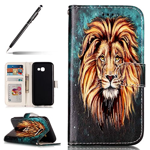 A3 Etui 2017 A3 A3 Coque Uposao Galaxy Galaxy 2017 Magnétique Coque Case Flip A3 Housse Galaxy 2017 à Etui Samsung de Ultra Cover Housse Housse 2017 Lion Coque Protection Pure Mince Rabat Galaxy Cuir Slim nOqRp7x