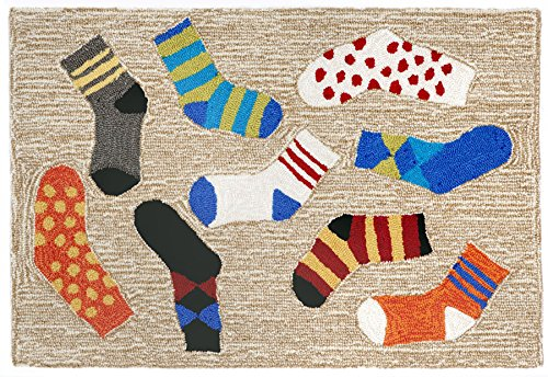 Kensington Row Collection Area Rugs - Mismatched Socks Ru...