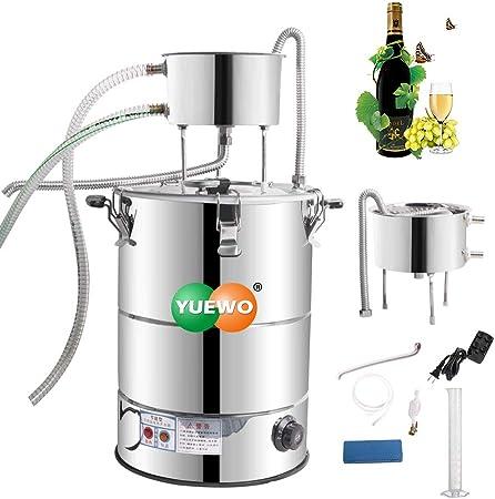 YUEWO Moonshine Still completo Kit, destilador de alcohol de calentamiento automático, elaboración de vino de acero inoxidable 304 para el hogar DIY (38L/10Gal)