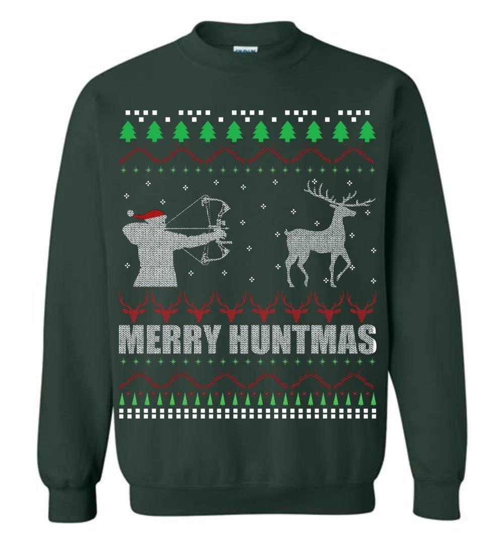 Merry Huntmas Deer Hunting Christmas Ugly Shirts