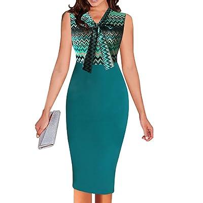 2018 Damen Sommer Kleider Fashion Farbe Stitching Etui Kleider Wickelkleider Bleistiftkleid Cocktailkleid Abendkleider Partykleider Sexy V Schnitt Bandagen Ärmellos Vintage Midi Kleid