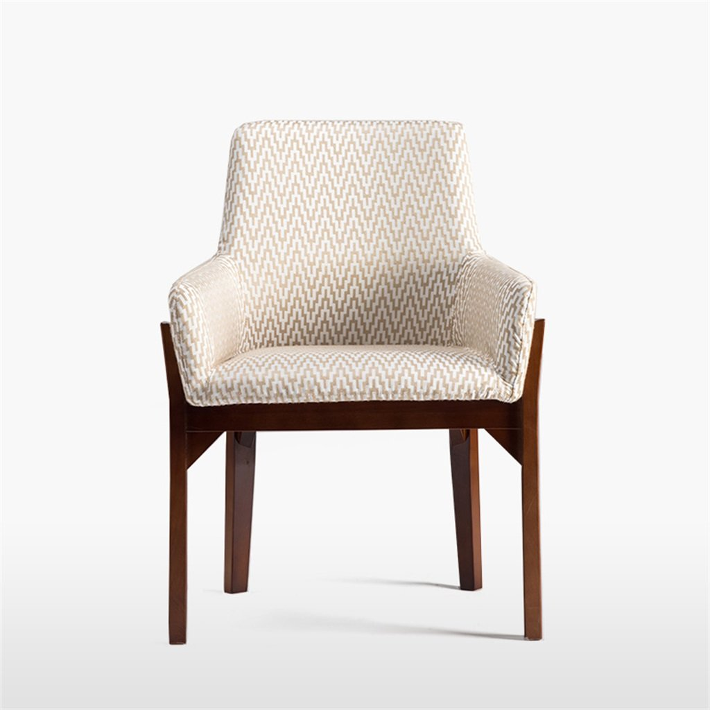 家庭用および商業用レジャーミルクホワイト用の机上の食事メイク学習椅子に使用できる大きな背もたれを備えた木製アームチェア B076J8S7HS