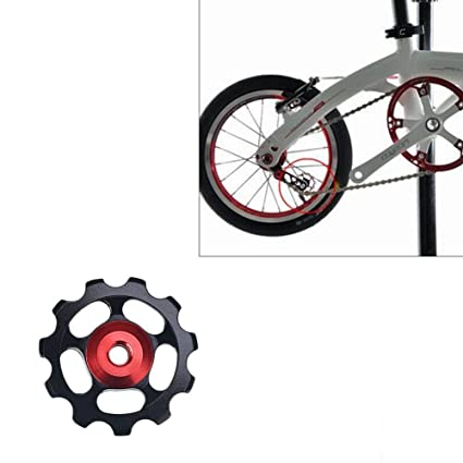 Eleganantimpresionante Aluminio 11T Sellado rodamientos desviador de Rueda Jockey guía polea MTB Bicicleta de Carretera