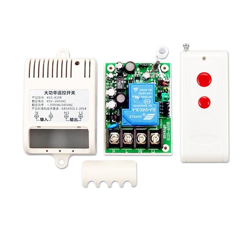 ximimark AC 220 V長い距離高電流30 AリレーRFワイヤレスリモートコントロールスイッチ NE360 B0775NS89X