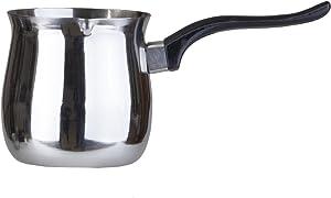 Pal Ed Stainless Steel Turkish Warmer (Finjan, Coffee Pot) (12 Oz.)