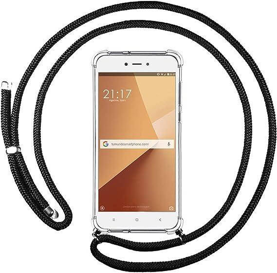 Funda Colgante Transparente para Xiaomi Redmi Note 5A Pro/Prime con Cordon Rosa/Dorado: Amazon.es: Electrónica