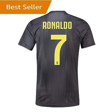 size 40 e2ac1 15a95 SALLARM Juventus (Juve) Away #7 C Ronaldo 2018-2019 Soccer Jersey Mens Black