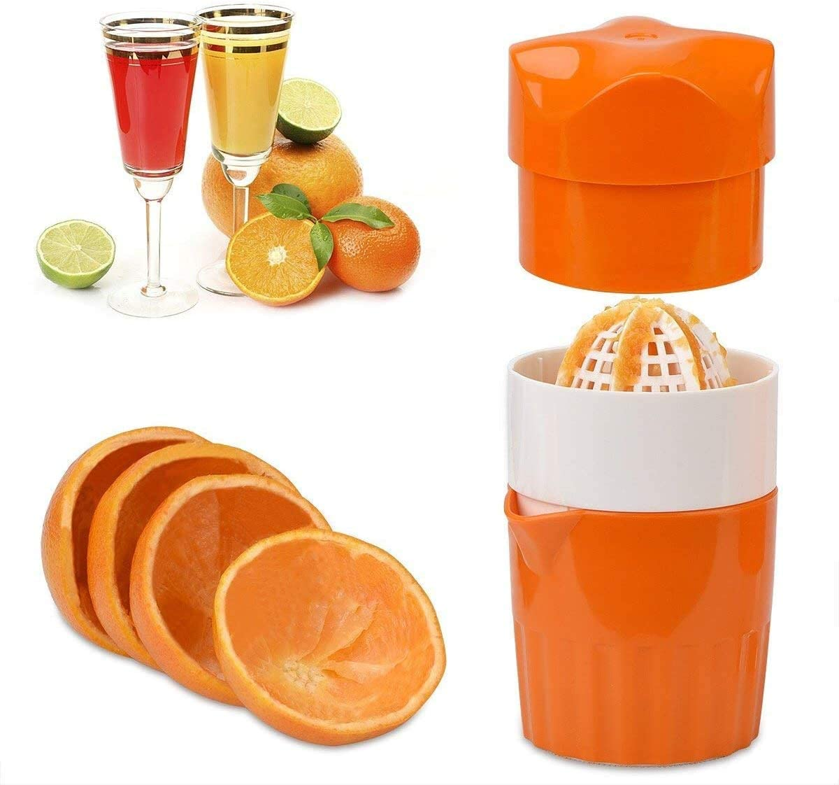 Juicer Citrus Orange Squeezer,Manual Lid Rotation Press Reamer for Lemon Lime Grapefruit