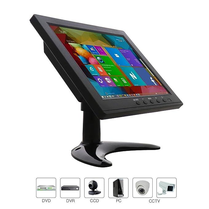 8 Zoll CCTV HDMI Monitor TFT LCD mit AV/VGA/HDMI/BNC Earphone Eingebauter Lautsprecher für Raspberry Pi, Home Security, CCTV-