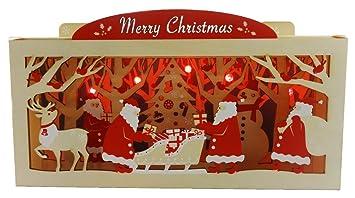 Amazon wooden merry christmas gift lights 20 melodies pop up wooden merry christmas gift lights 20 melodies pop up greeting card christmas card m4hsunfo