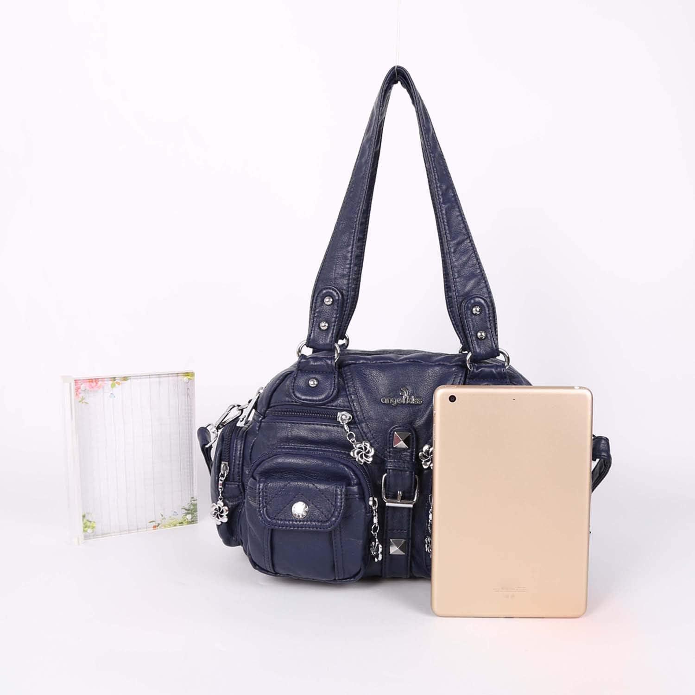 New Fashion Vintage Lady Multi Pockets Shoulder Bags Women Messenger Bags Blue