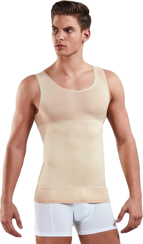 schwarz o Body Shape Tanktop Unterhemden in wei/ß Skin DOREANSE Kompressionsshirt Herren Unterhemd Bauch Weg Figurformende Shapewear Shirt f/ür M/änner aus 85/% Baumwolle