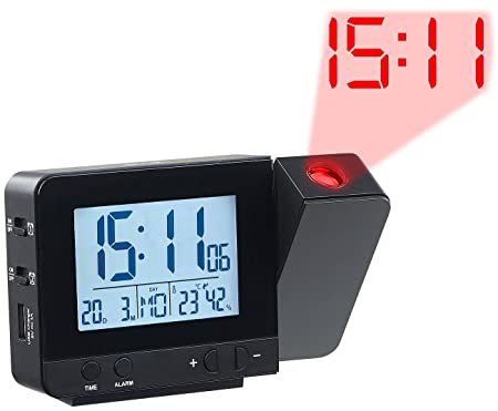 Infactory - Radio despertador de proyección: - Radiodespertador ...