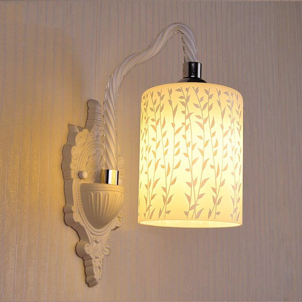 Vetro Led Lampada da parete Soggiorno Camera da letto posto letto illuminazione (moda stile   B)