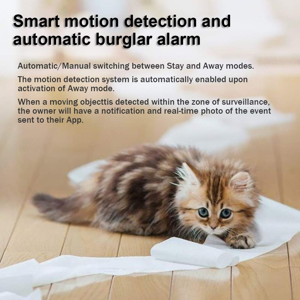 LARKKEY WiFi Home Security Surveillance Camera 1080P, Smart Baby Monitor Compatible with Alexa and Google Home, Motion Detection & Tracker, Night Vision by LARKKEY (Image #4)