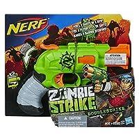 Nerf A6562EU4 - Arma Giocattolo Zombie Doublestrike, Nero/Verde/Grigio/Arancione
