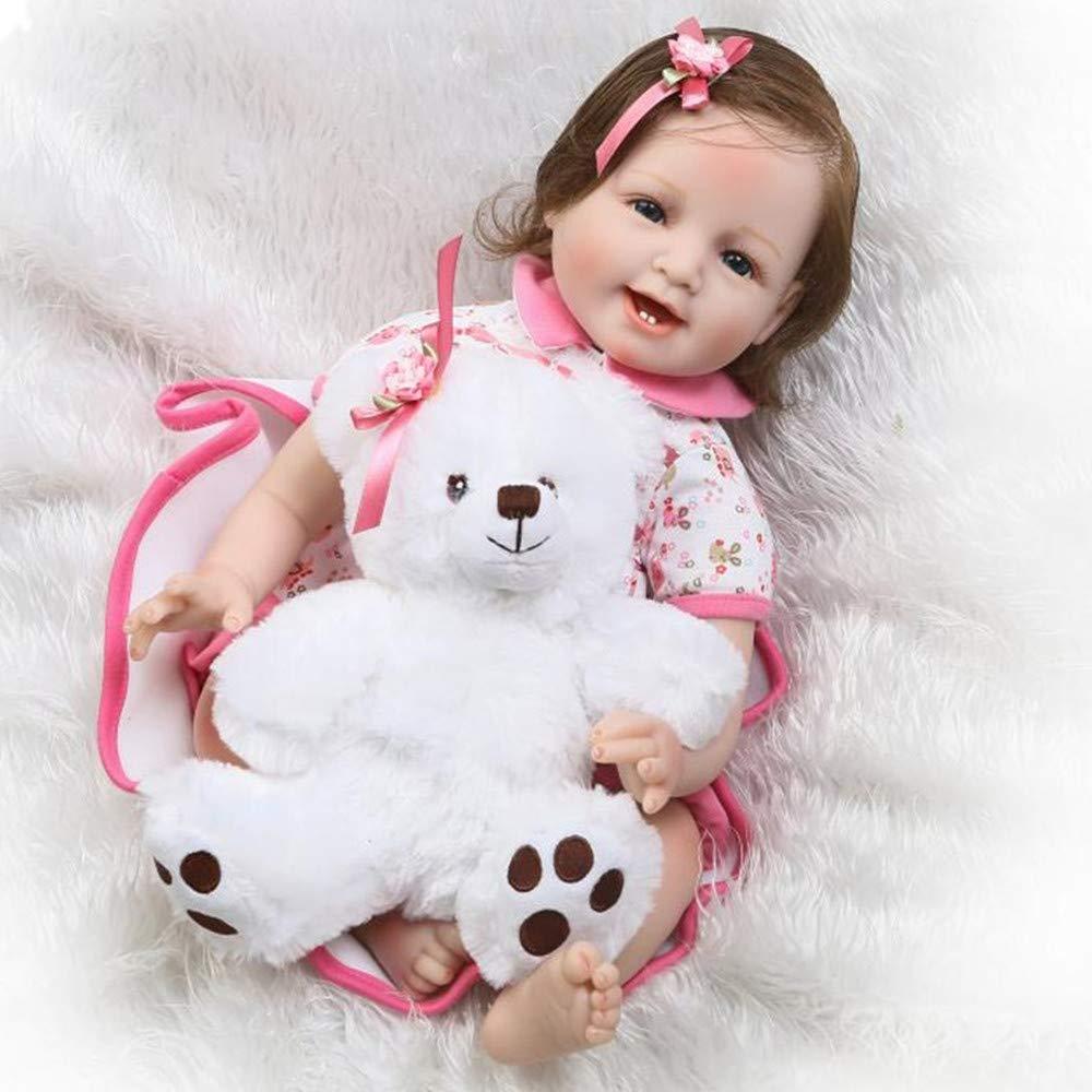 ofreciendo 100% CUTDOLL Reborn Bebé Muñecas Niña Silicona Baby Doll Realista Recién Recién Recién Nacidos Babies Toddler Juguetes 55 cm  ¡envío gratis!