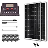 Renogy 200 Watt 12 Volt Monocrystalline Solar Starter Kit with 30A PWM Controller - LCD Display