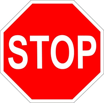 Pegatinas/Cartel Stop/STOP Cartel werbeauf adhesivo 8 - 100 ...