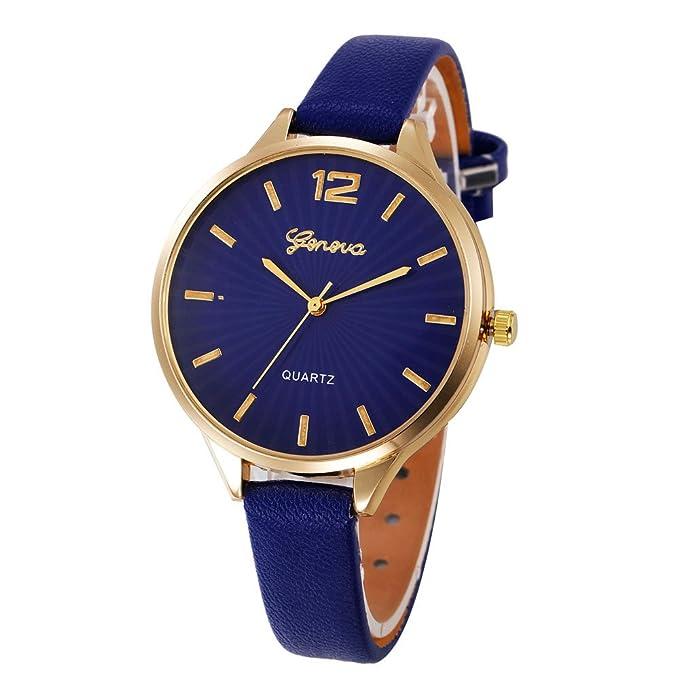 Darringls_Reloj Geneva,Reloje Hombres Mujer Reloj Deportivo Reloj de Pulsera de Cuarzo de aleación de Banda de Cuero de Dibujos: Amazon.es: Ropa y ...