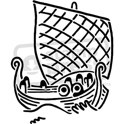 Amazon.com: A4 \'Viking Ship\' Wall Stencil / Template (WS00025391 ...
