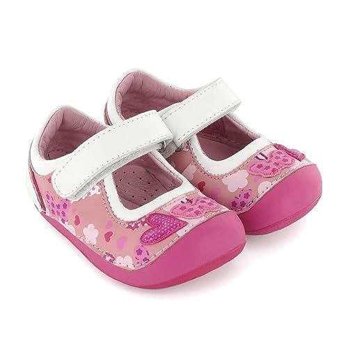 13cbcceba6d Zapato preandante de niña en Piel Rosa Lea Lelo: Amazon.es: Zapatos y  complementos