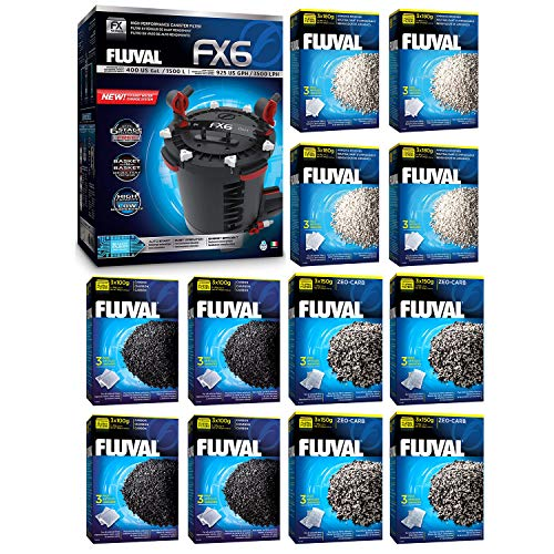 - Fluval FX6 A219 Filter w/Carbon, Ammonia Remover & Zeo-Carb 12mo