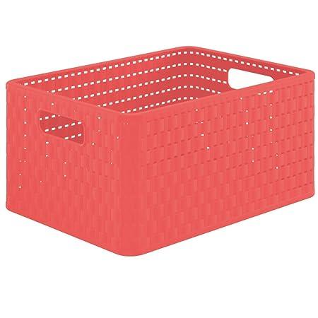 A4 Rotho Country Verde Caja de almacenaje con efecto de mimbre