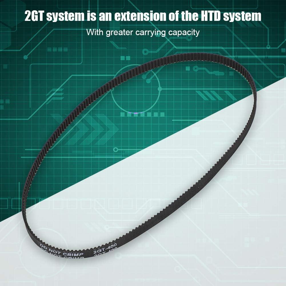 5pcs Closed Timing Belt 3D Printer Accessories GT2-6-400MM Rubber Closed Timing Belt Endless Closed Timing Belt Rubber Transmission Belt for 3D Printer
