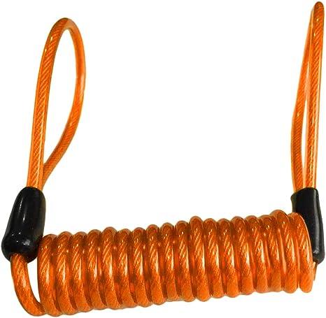 Image ofNoyokere Cable de recordatorio de Seguridad de la Alarma de la Cerradura del Disco de la Motocicleta Reminde para la Vespa de la Bici Naranja