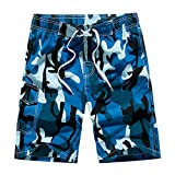 DAFENGEA Men's Summer Beach Swim Trunks Casual Quick Dry Surf Board Shorts,STK1001-Blue Camouflage-L