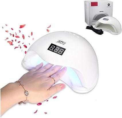 Hornillo LED UV 48 W 24 LED para reconstrucción de uñas de ...
