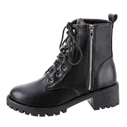 1a6beb65e93c1 Amazon.com: Women's Vintage Black Leather Cowboy Boots Ladies Chunky ...