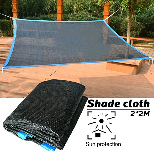 eronde 70% Square Sun Shade Sail Cloth Outdoor Sun Shelter Sun Net Sun Mesh Shade UV Block Fabric for Outdoor Facility and Activities - Also Can Be Used As Plant Cover Pet Shade Cover 6.56ft x 6.56ft