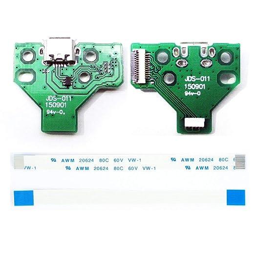 Denret3rgu 2Pcs Tarjeta de puertos de carga USB para Sony ...