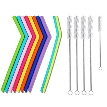 a7605575c1c Silicone Straws Reusable Straws Replacement Straws for Bubba Cups 30 Oz  Tumblers/Boba Tea Smoothie
