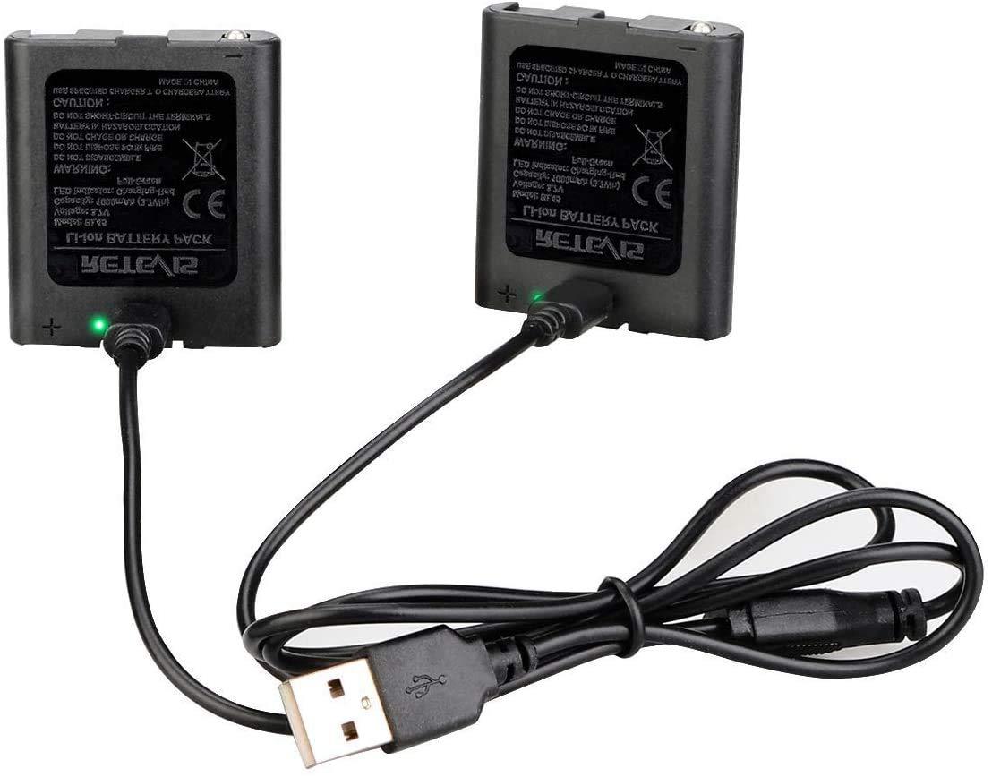 Retevis BL45 RT628 RT628B RT45 RT49 RT49B RT49P Rechargeable Battery,USB Charging, LED Indicator, 1000mAh Li-ion Battery for RT628 RT628B RT45 RT49 RT49B RT49P Walkie Talkies (2 Packs)