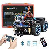Keywish Smart Remote Control Car Kit Hummer-Bot Starter Robot Building Assembly Kit For Arduino UNO R3 Projects with tutorial,Bluetooth Modules,Line Tracking,Ultrasonic Sensors For STEM