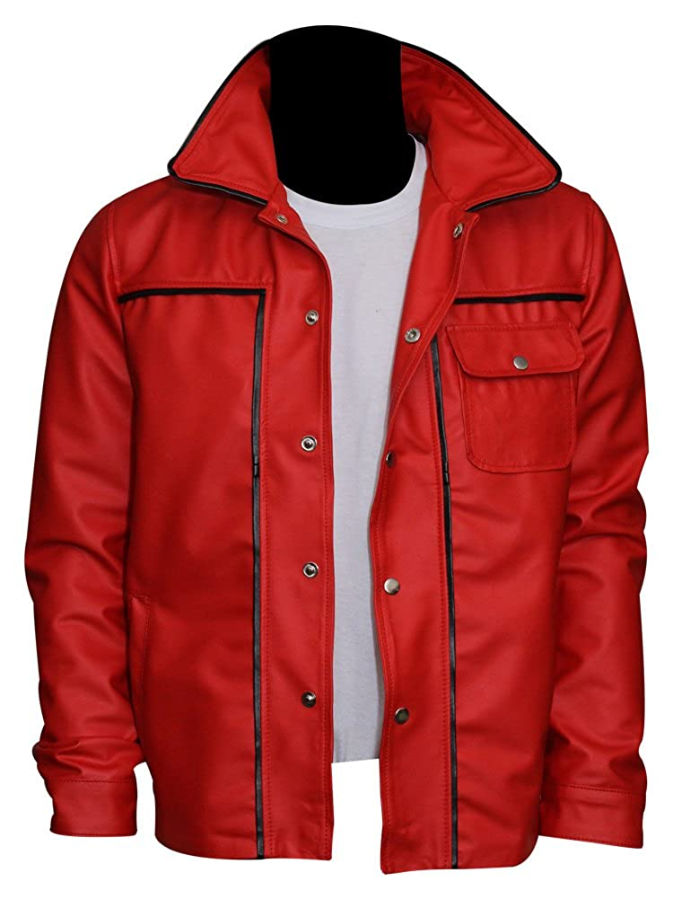 a751fc087 The Jacket Makers Genuine Leather Mens Red Jacket - King of Rock ...