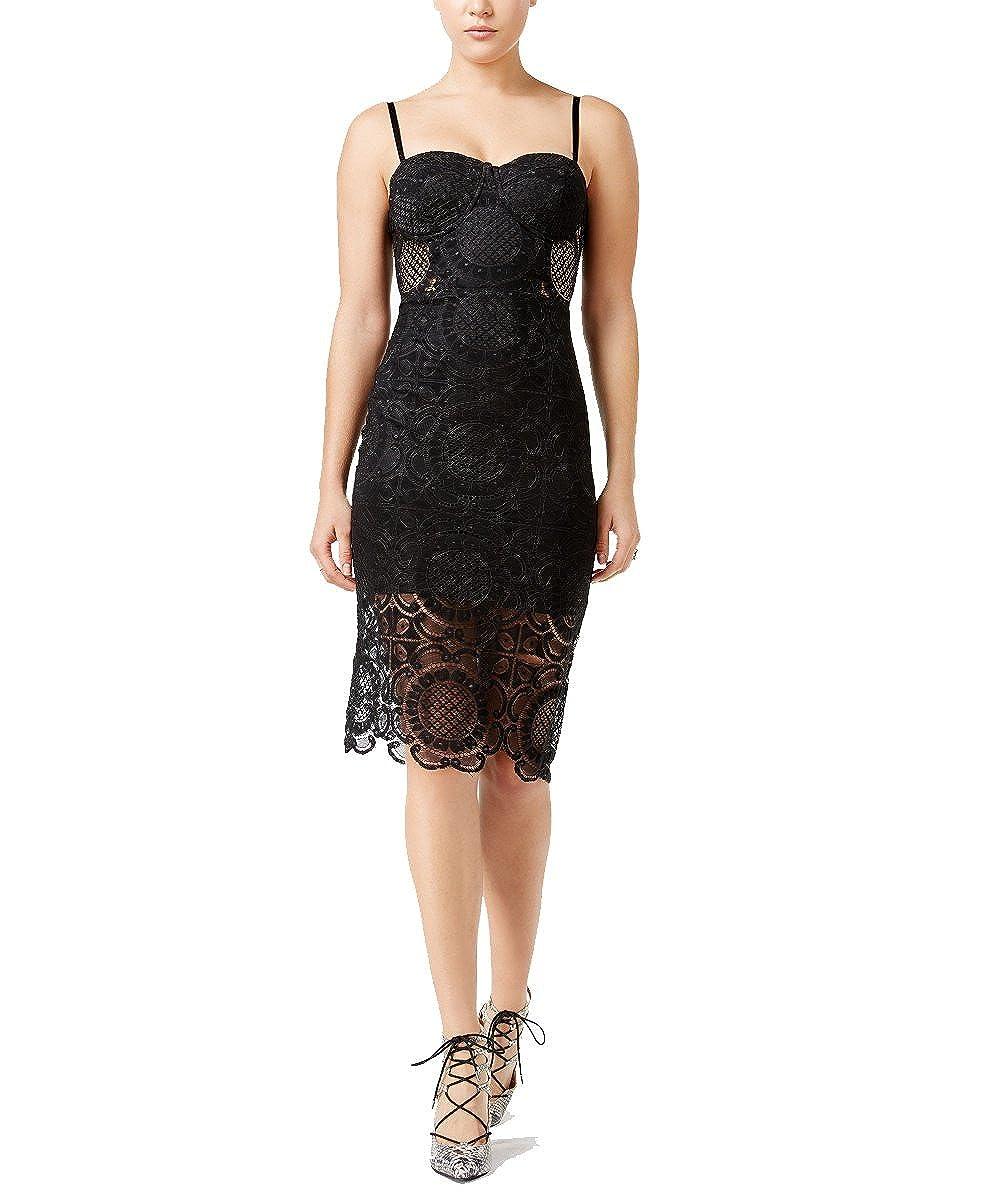 Black Trixxi Womens Juniors' Lace Slip Dress