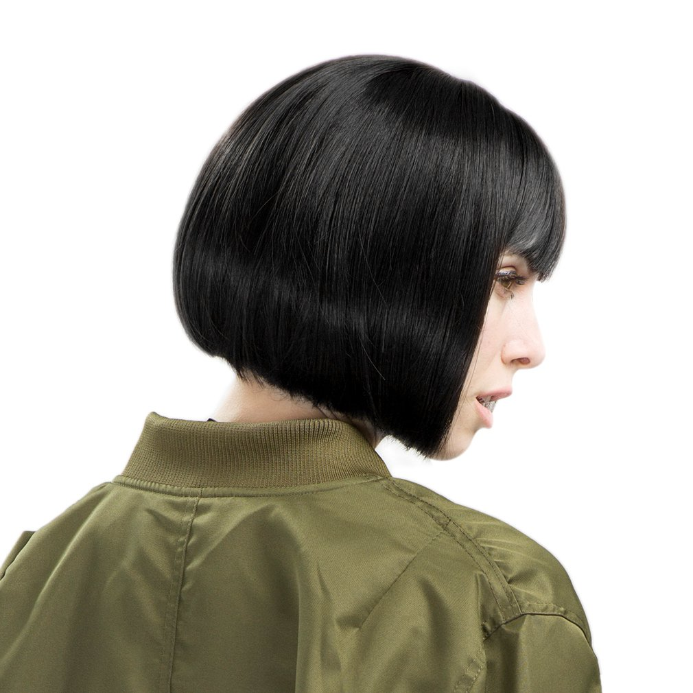 Amazon Reecho Short Bob Wig With Bangs 11 Synthetic Hair For