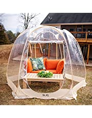 Sliq Outdoor Pod with 4 People Capacity – Instant Pop Up, Snow/Wind/Rain Proof for Patios, Backyards, Camping, RV, Canopy Gazebo, Tent, Screen House, Greenhouse (9.5'x9.5'x7', Beige)