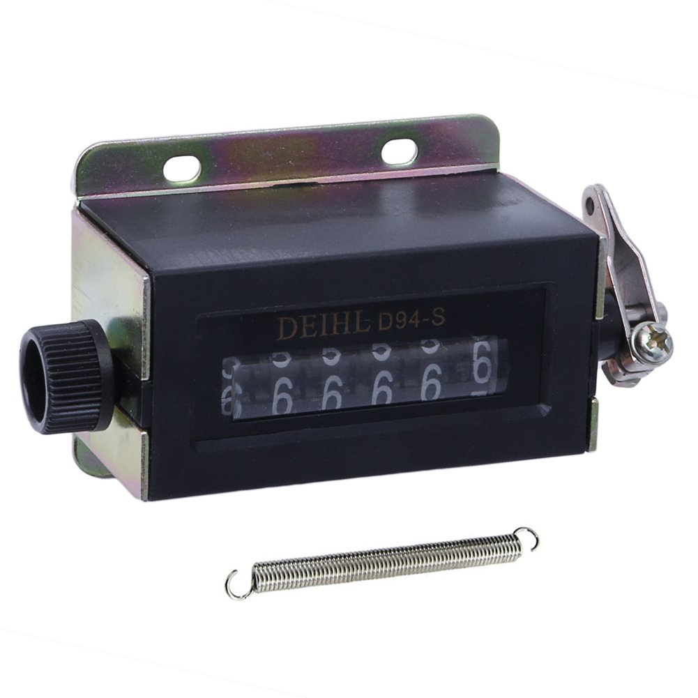 Sixsons D94-S Resettable Mechanical Pulling Counter 6 Digit Counter Display Range 0-999999