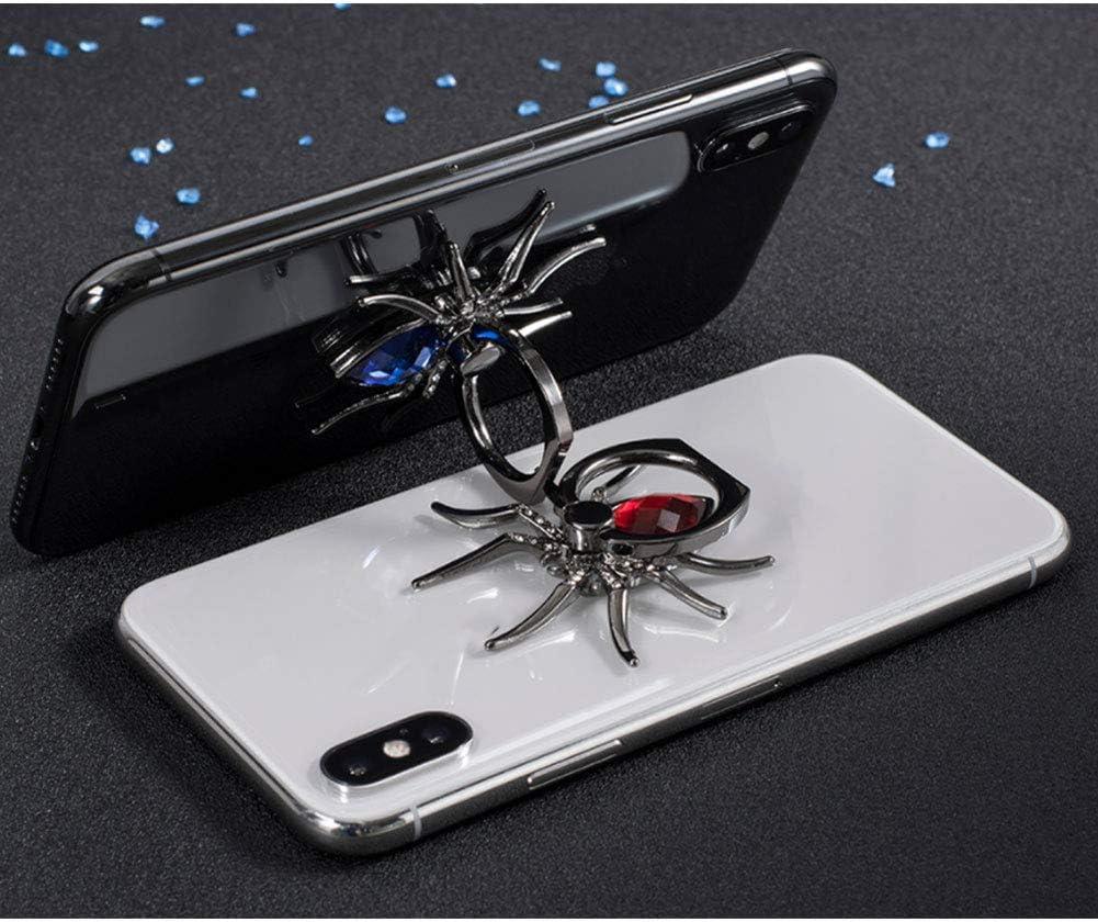 Metal Spider Finger Ring Holder 360 Rotate Phone Stent Diamond Mobile Phone Holder Finger Stand