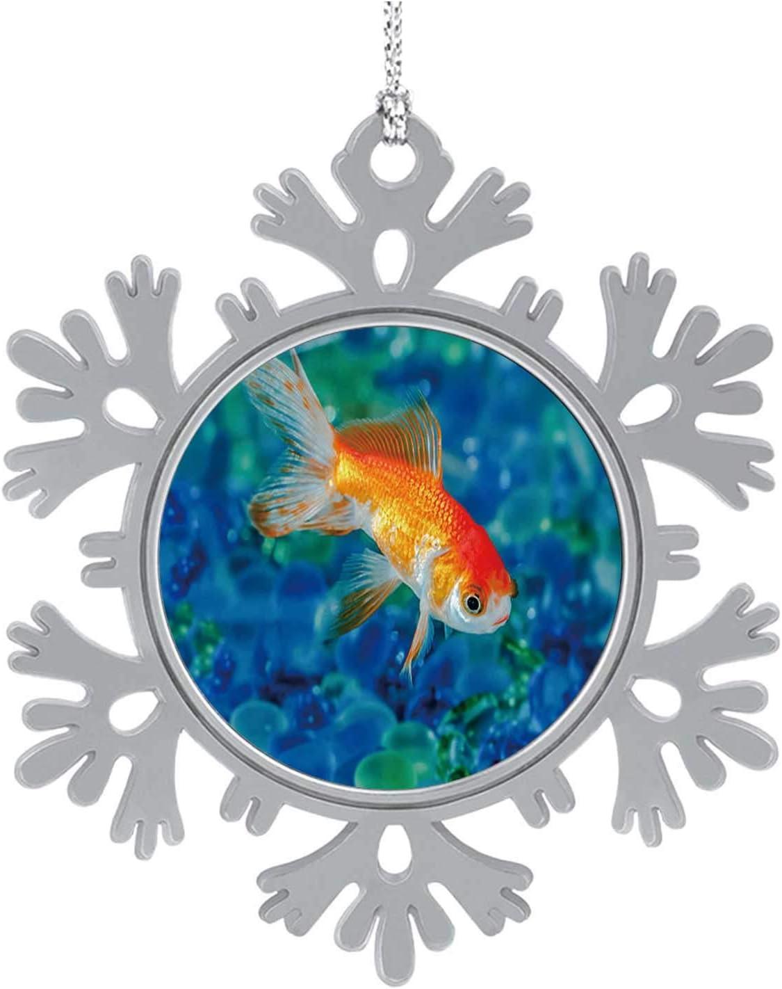 C COABALLA Gold Fish Goldfish Single one in Aquarium Close up Goldfish,Cute 2020 Home Décor Hanging Snowflake Decorations Ornament Water 1PCS